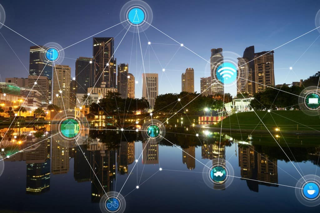 59063927 - smart city and wireless communication network, abstract image visual, internet of things